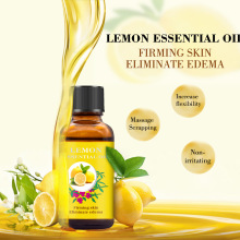 Lemon Massage Essential Oil  Moisturizing Pure Plant Thermal Body Essential Oil For Scrape Therapy SPA Relax Skin Care TSLM1