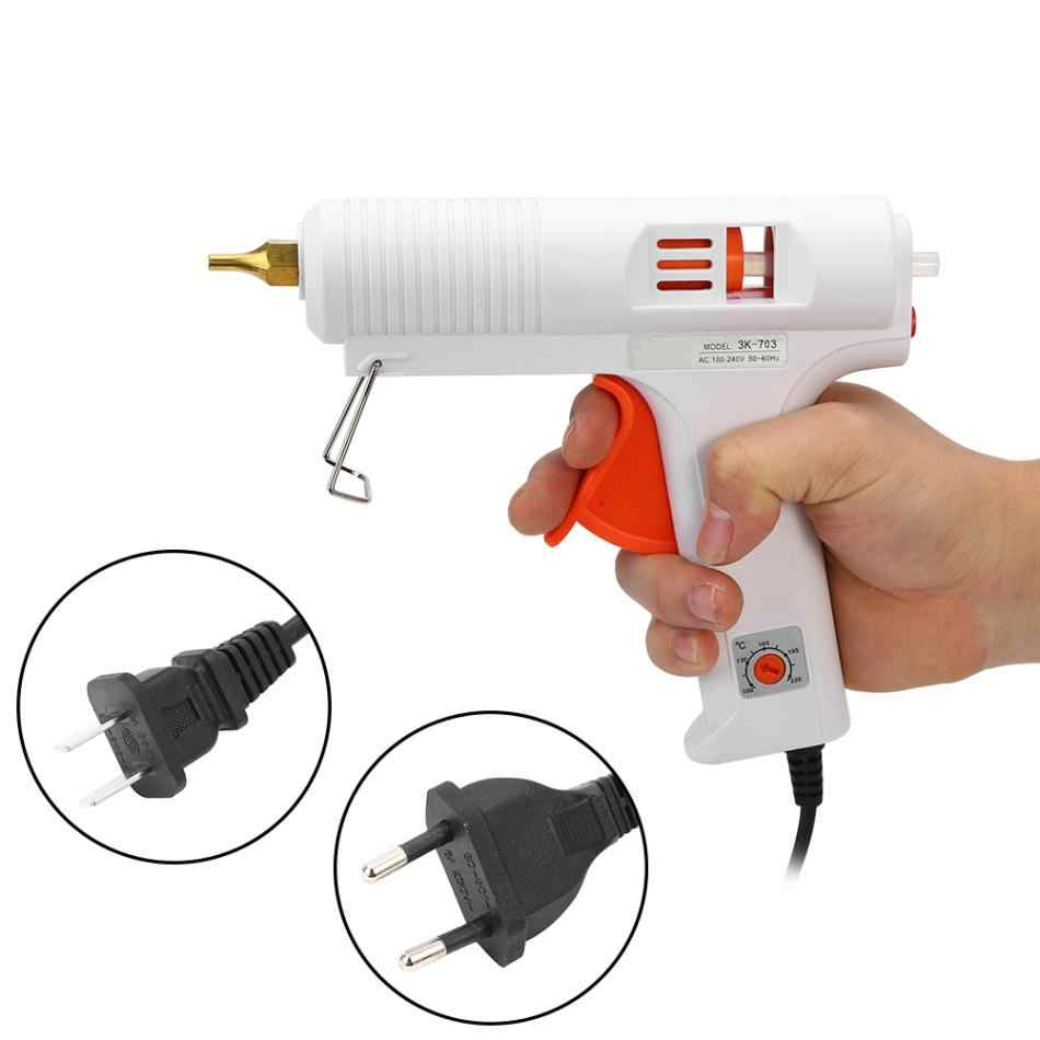 110W Hot Melt Glue Gun 110-240V Adjustable Konstan Suhu Pemanas Panas Mencair Lem Gun Dog Diameter 11 Mm Kerajinan Alat Perbaikan