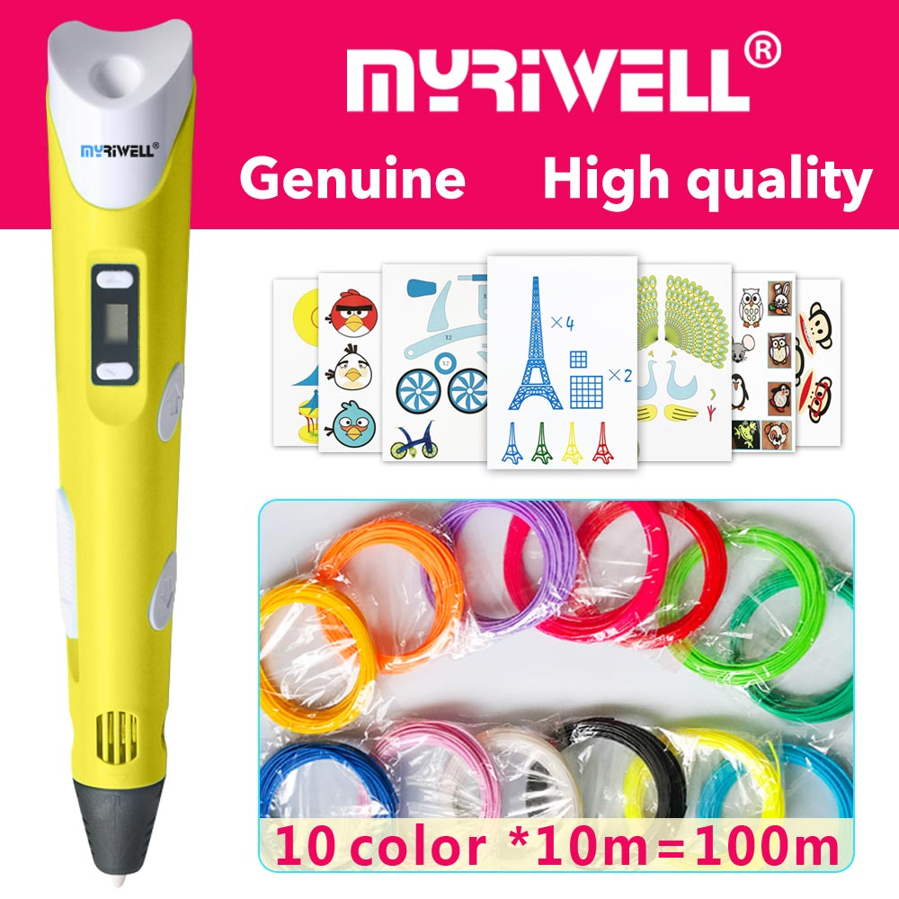 Myriwell 3d-Pen Led-Display Pen-3d Smart Filament Gifts Children 3d-Model ABS/PLA title=