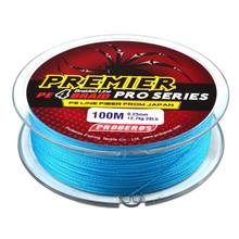 Fishing Line 100m 4 Series Blue Super Strong Line Braided Fishing Line Bass Carp Fish Fishing Accessories Fly Fishing(China)