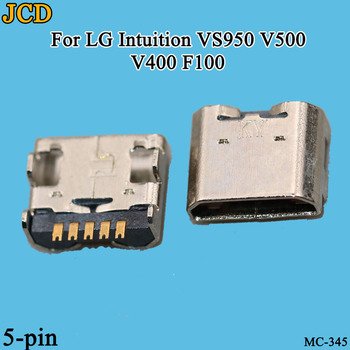 JCD 10pcs new Micro USB Connector For LG Intuition VS950 V500 V400 F100 Charging Port image