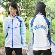 Anime Grátis! Iwatobi swim club haruka nanase cosplay traje jaqueta unisex hoodie do esporte da escola para homens unisex