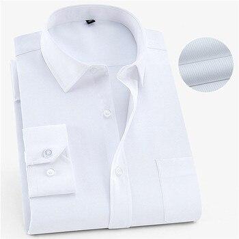Men's Shirts Quality Men's Fashion Long Sleeve Square Collar Slim Shirt Men's Business Casual Office Formal Work Wear