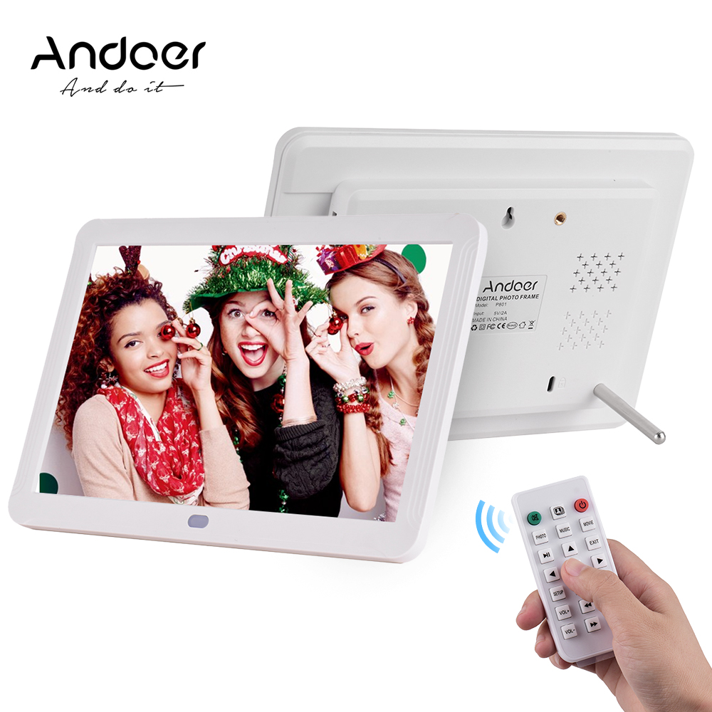 HD Digital Photo Frame with Remote Control//User Manual//Bracket//Power Adapter Resolution 1280 /× 800 Support Wall Mount