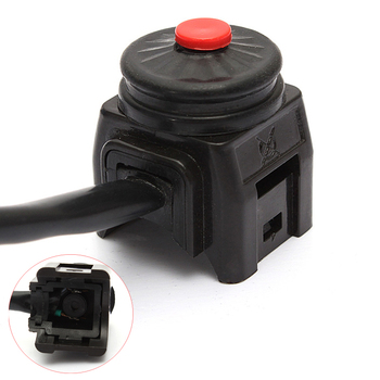 12V 22MM High-Quality Universal Black Durable Kill Stop Switch Horn Button Suitable for Motorcycle / Pit Quad Bike