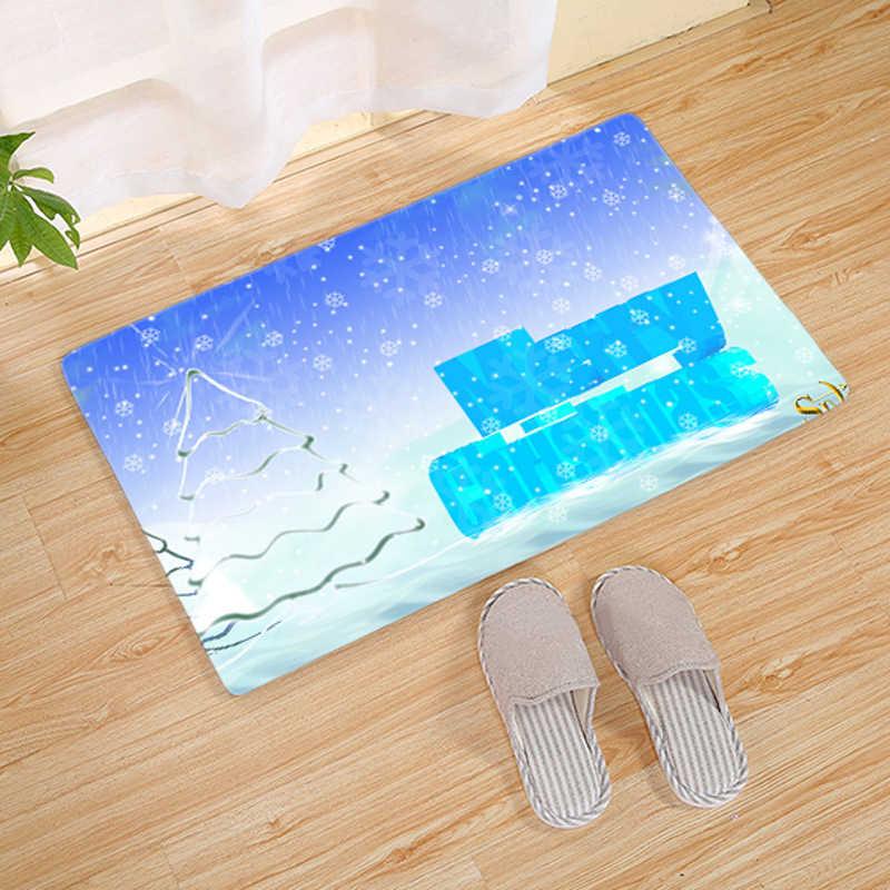 1pc casa estilo nórdico cozinha de natal sala de estar tapete do banheiro anti-deslizamento esteira limpa e manter o banheiro 40*60cm