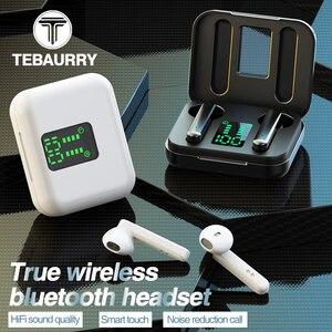 Image 1 - TWS אמיתי אלחוטי אוזניות Binaural סטריאו Bluetooth 5.0 אוזניות אלחוטי אוזניות עם LED תצוגת מקרה הסלולר