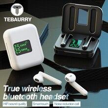 Tws verdadeiro binaural estéreo fone de ouvido sem fio bluetooth 5.0 fones sem fio com display led caso para celular