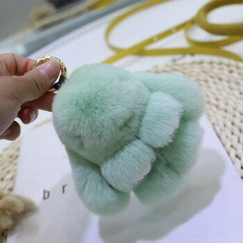 Mini ornament rabbit fur rabbit doll pendant bag pendant super cute plush rabbit pendant car ornament cute key chain