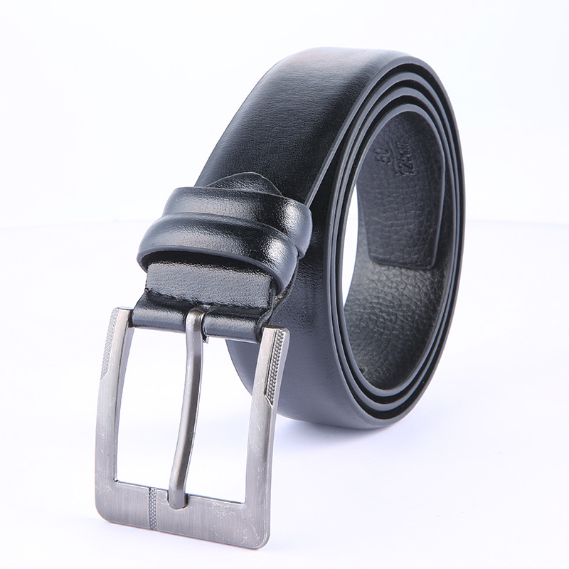 Retro Leather Belts For Mens New Fashion Pu Microfiber Leather Belt Men's Leather Jeans Belt Factory Direct Wholesale