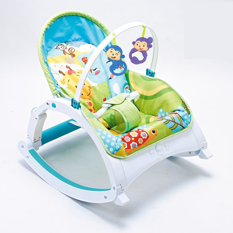 Newborn Multifunctional foldable Electric baby rocking chair with toy music soothing and comfortable shaking baby chair Home v3 VC