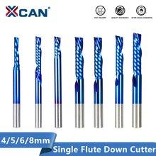 XCAN вниз резец 4 5 6 8 мм один флейта фреза левая рука одного флейта твердосплавные фрезы для CNC древесины маршрутизатор бит