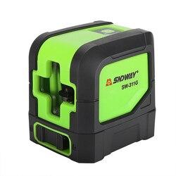 Nivel láser verde 3D, 2 líneas, 8 líneas, nivelador láser autonivelante, instrumento de medición de línea de haz láser Horizontal Vertical