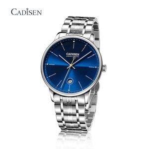 Image 4 - CADISEN reloj mecánico automático para hombre, reloj de pulsera militar, resistente al agua, de acero inoxidable, Masculino