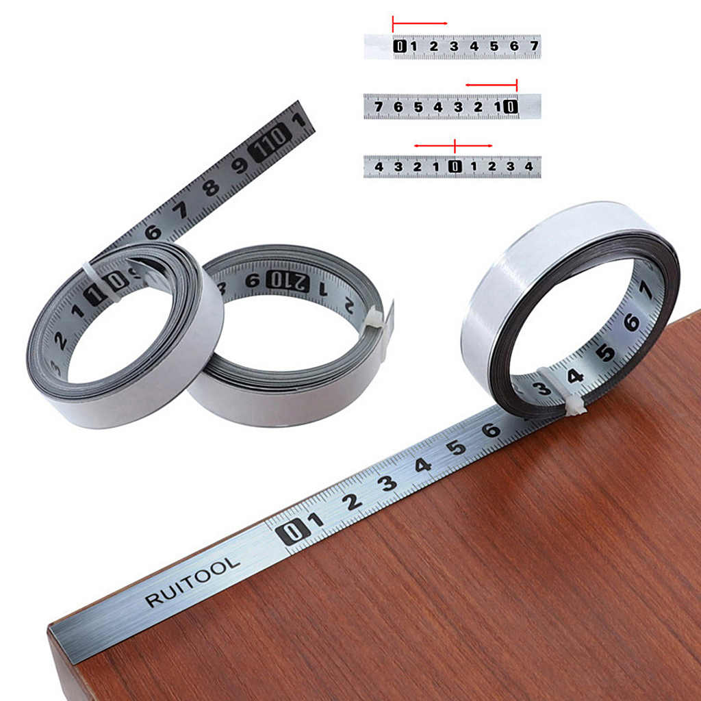 Tape Measure Metric 1M-5M Miter Track Measuring Tape Steel Ruler for T-track Router Saw Table Woodworking Tools