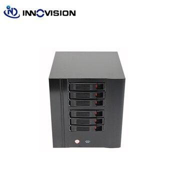 NAS 6 bay caso di server di rete di storage nas server di mini caso di itx con hot swap