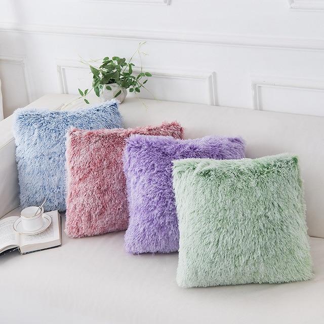 Soft Fur Pillows Case Plush Cushion Cover Home Decor Pillow Covers Living Room Bedroom Sofa Decorative Pillows Cover 43x43cm New 4