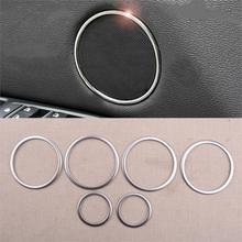 CITALL 6pcs Interior Door Speaker Ring Cover Trim Silver Fit For BMW X5 E70 X6 E71 2008 2009 2010 2011 2012 2013 Car Styling