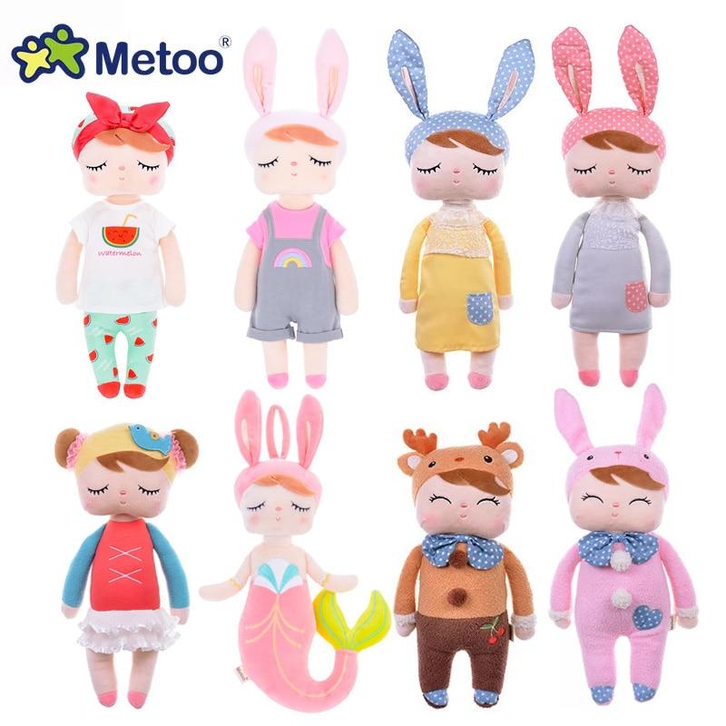 Metoo Angela Rabbit Deer Ballet Fruit Mermaid Girl Stuffed Plush Animals Toys Doll For Kids Appease Baby Birthday Christmas Gift