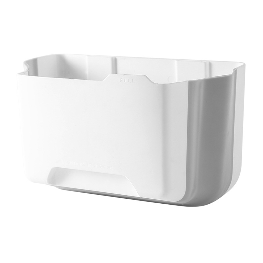 Toilet Garbage Wall Mounted Portable Bathroom Kitchen Cabinet Storage Door Hanging Folding Waste Bin Drawer Large Capacity Car