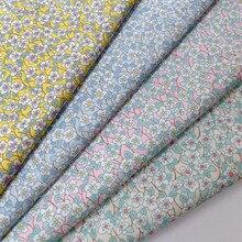 145x50cm fresco floral puro algodão popelina tecido, diy artesanal crianças roupas de verão para pano feminino