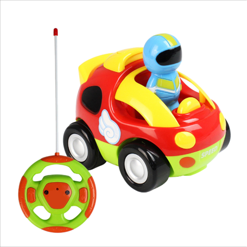 Cartoon Remote Control Race Car, With Music Button And LED Headlights,Driver Doll,Safe And Durable,Radio Control Toy For Toddler