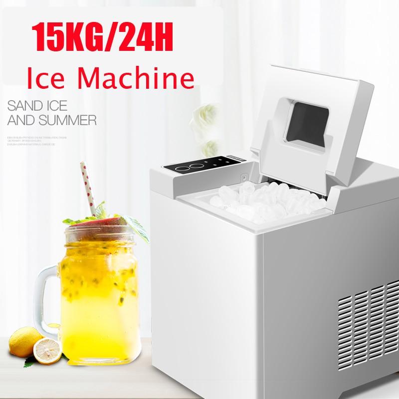 15KG/24H Ice Maker Bullet Ice Home Electric Ice Machine Round Ice Making Machine Big Bar Coffee Teamilk Shop Ice Maker