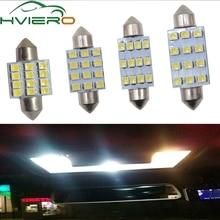 цена на 2Pcs 31mm 36mm 39mm 41mm DC 12V C5W 1210 3528 White 12Smd Festoon Dome LED Interior Car Panel Reading License Lamp Wedge bulbs