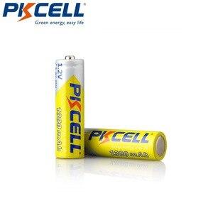 Image 4 - 4 قطعة/PKCELL AA بطارية قابلة للشحن AA 1.2 فولت ni mh 2A 1300 مللي أمبير بطاريات AA مع 1 صندوق علبة بطارية ل DVD Mp3 كاميرا رقمية