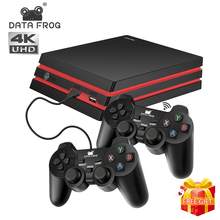 DATA FROG Game Console With 2.4G Wireless Controller HDMI Video Game Console 600 Classic Games For GBA Family TV Retro Game цена 2017