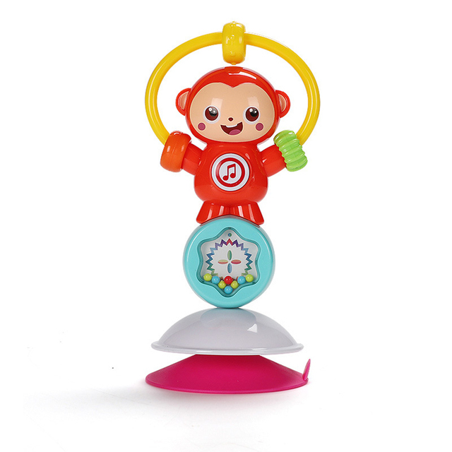 Sonajeros de juguete para bebés recién nacidos, animal giratorio, ventosa, mesa de comedor, sonajeros, sonajeros, juguetes para bebés de 0 a 12 meses, juguetes educativos para bebés móviles