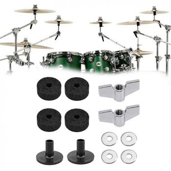 Jazz Drum Cymbal Felt Pads Parts 12pcs/lot  Replacement Kits with Sleeves & Wing Nuts Washers Wool