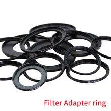 Gorąca sprzedaż 52 67mm 52 82mm 55 58mm 55 62mm 55 82mm 58 72mm 58 77mm 58 82mm obiektyw Step Up Down Ring Filter wszystkie Adapter do aparatu zestaw