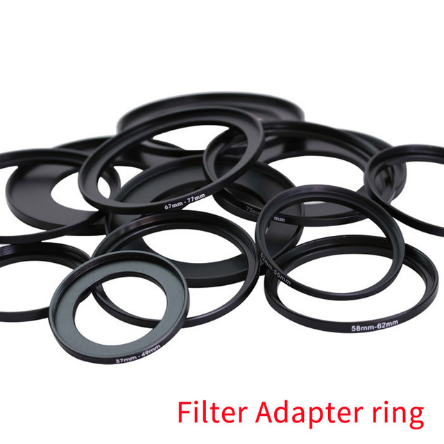 Hot Sale 52 67mm 52 82mm 55 58mm 55 62mm 55 82mm 58 72mm 58 77mm 58 82mm Lens Step Up Down Ring Filter All Camera Adapter Set