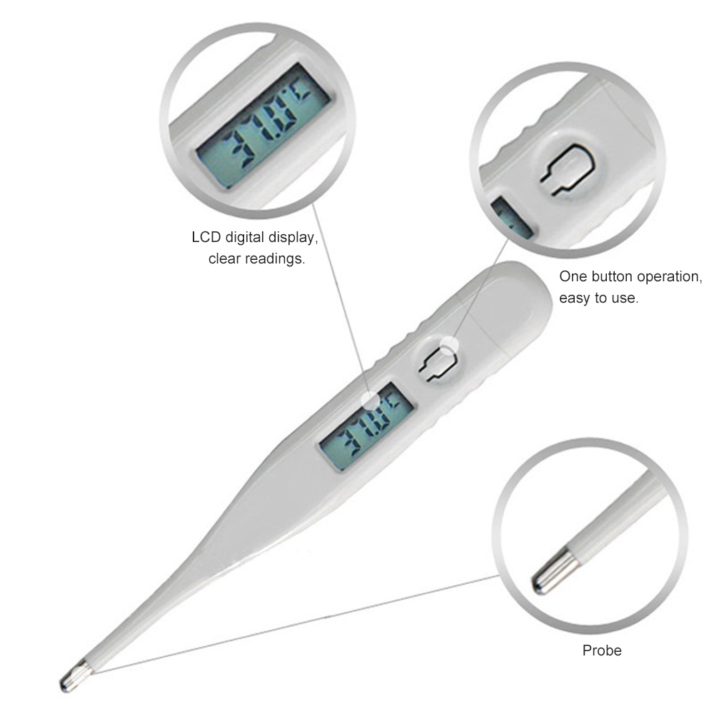 Children Digital Mercury Thermometer  LCD Show Reading 2