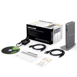 Image 5 - Wavlink אלומיניום USB C אוניברסלי עגינה תחנת USB 3.0 Ultra 5K הכפול 4K @ 60Hz HD תצוגה מרובה HDMI/Gigabit Ethernet Windows
