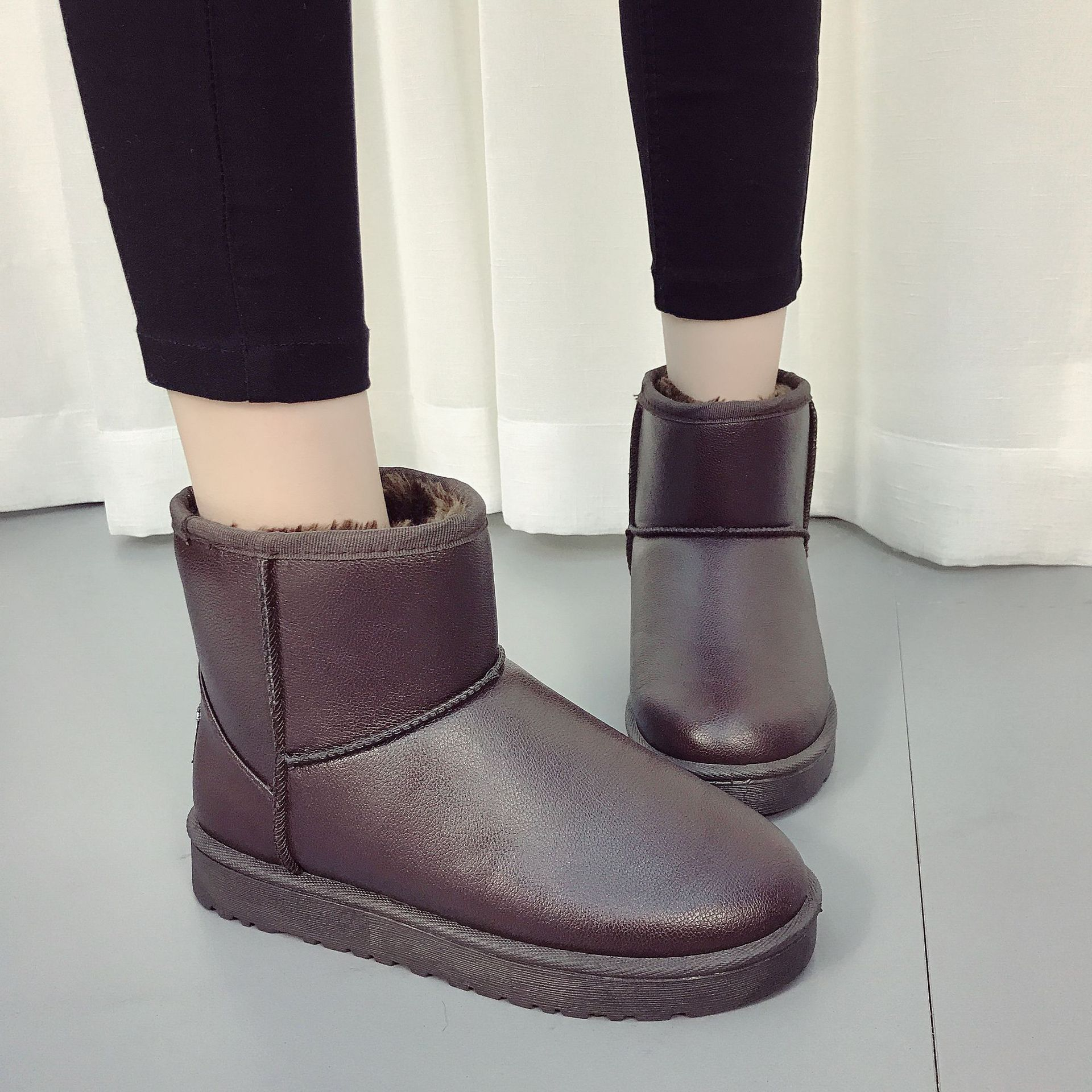 2020 New Women's Snow Boots Ankle Winter Boots For Women Female Snow Shoes Ladies Flats Slip On Warm Plush Botas Mujer Plus Size