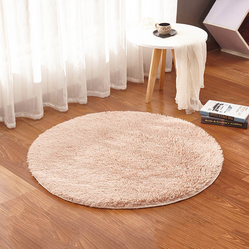 Round Carpet For Living Room Home Warm Plush Floor Rugs Fluffy Mats Kids Room Living Room Mats Yoga Silky Faux Fur Area Rug