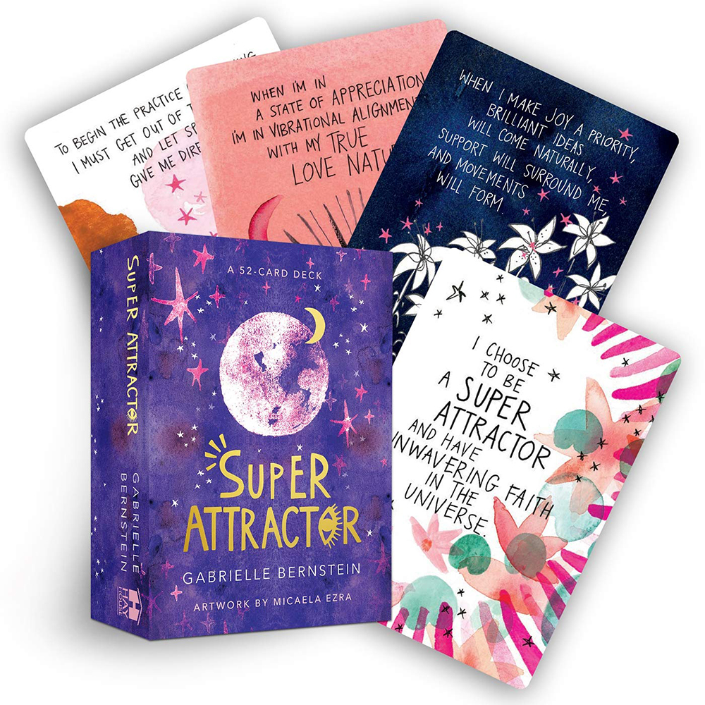 Super Attractor A 52-Card Deck Cards Oracle Tarot Game Gabrielle Bernstein Tarot Toy Affirmations Start Manifesting Limitless