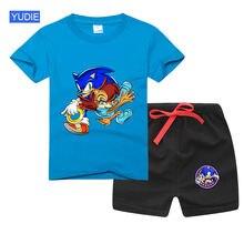 Комплект детской одежды для мальчиков и девочек милые летние