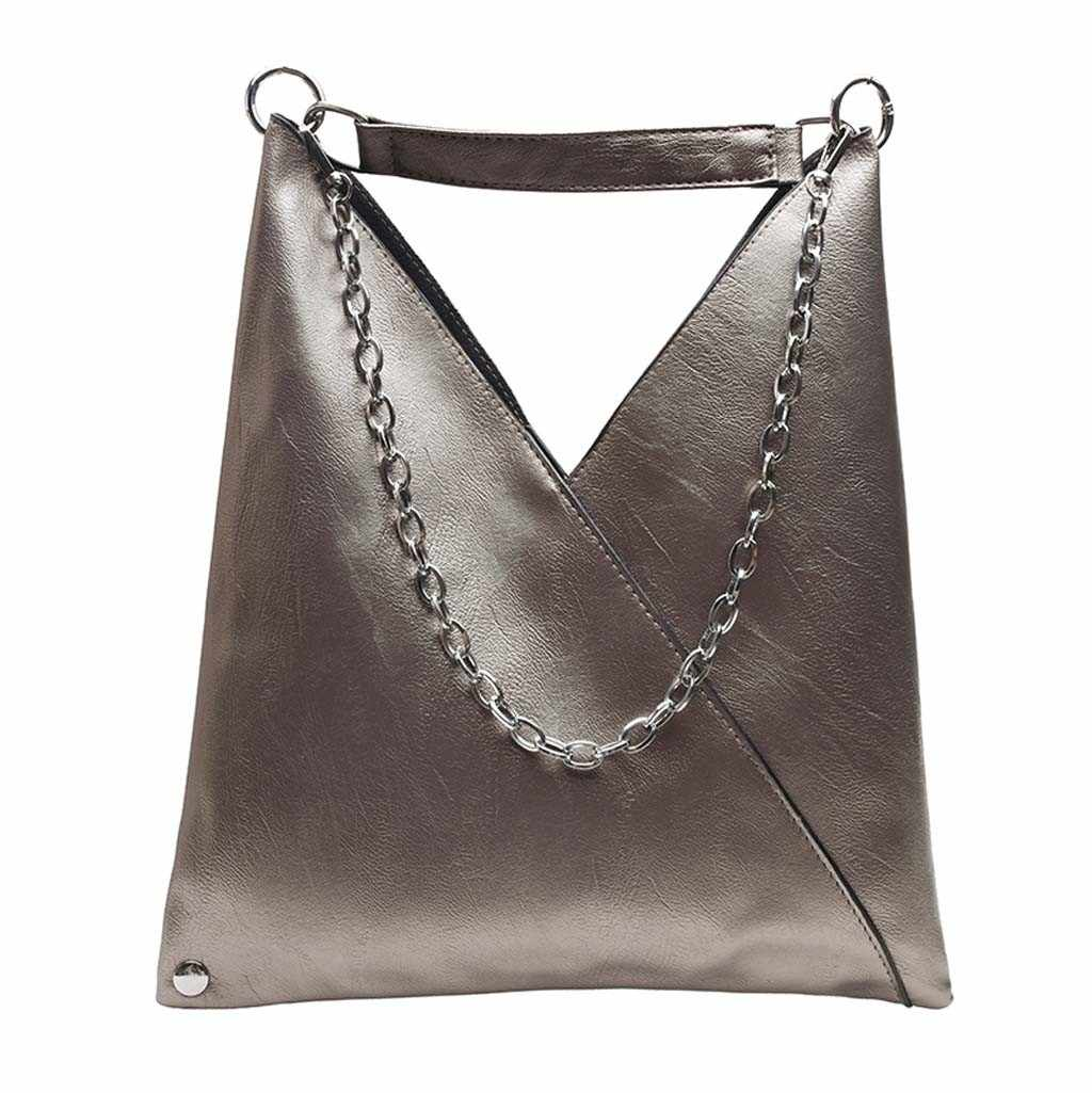 Wanita 2020 Baru Sederhana Tas Retro Rantai Messenger Bag Fashion Shoulder Bag Bolsa Feminina Tas Selempang untuk Wanita 2020 #20