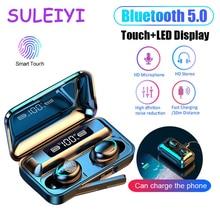Bluetooth Earphones Mic-Gaming-Headset Power-Bank Sport-Earbuds Led-Display F9 Tws 2000mah