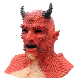 Image 5 - Demon Horror Lord Diablo Belial Mask Cosplay Boss Belial Latex Masks Gloves Halloween Carnival Party Costume Props