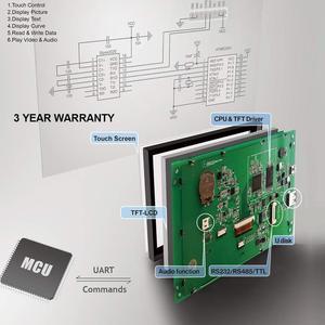 Image 2 - 7 אינץ צג LCD הסידורי מודול עם תכנית + מגע מסך עבור ציוד בקרת פנל STVC070WT 01