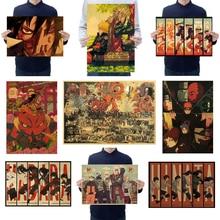 Anime Poster Wall-Stickers Sasuke Painting Kids Room-Decor Characters Vintage Nostalgia