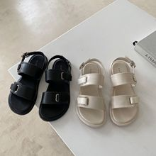 Flat Sandal Shoe 2021 Women's Clogs With Heel Muffins shoe Suit Female Beige Without New Comfort Thick Sports Girls Platform Bea