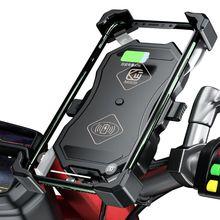 شاحن لاسلكي 12 فولت لدراجة نارية QC3.0 USB Qi, حامل للهاتف المحمول