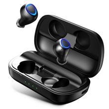 Беспроводные Bluetooth-наушники ANOMOIBUDS с зарядкой Qi, проводные наушники с глубокими басами, Спортивная гарнитура с бинауральными микрофонами