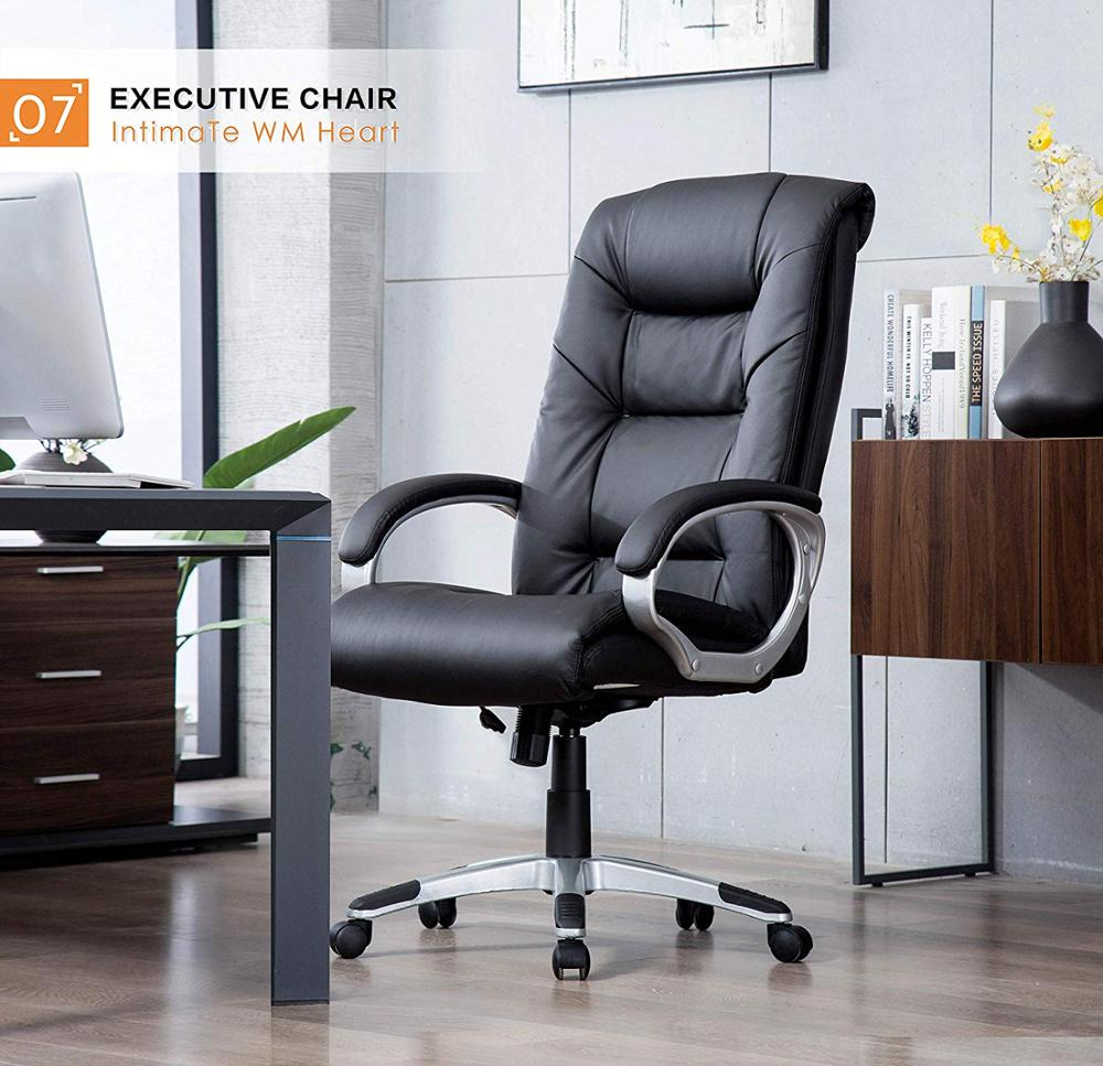 High-Back Executive Office Chair Faux Leather Large Seat Computer Desk Chair Gaming Chair