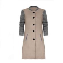 2019 New Women Coat Winter Woolen Long Womens Clothing Sleeve O-neck Casaco Feminino Manteau Femme Abrigos